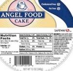 Safeway Angel Food Cake