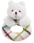 Bear Ring Rattle Bunny Toy
