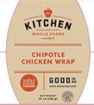 Whole Foods Chipotle Chicken Wrap