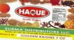 Haque brand Golden Raisins