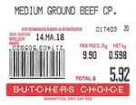 Loblaw Butcher's Choice Ground Beef
