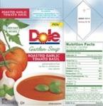 Dole Roasted Garlic Tomato Basil Soup Recall [US]