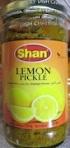 Shan Lemon Pickle in Oil Recall [Canada]
