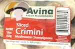 Avina Sliced Crimini Mushroom Recall [Canada]