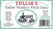 Tullia's Italian Meatless Pasta Sauce Recall [US]
