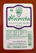 La Orocovena Biscuit Pound Cake de Queso Recall [US]