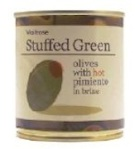 Waitrose Stuffed Green Olive Recall [UK]