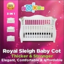 Royal Baby Sleigh Cot Bed Recall [Australia]