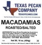 Texas Pecan Macadamia Nut Recall [US]