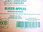 Subway brand Fresh Apple Recall Update [Canada]