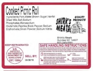 Shirk's Meat Pork and Beef Recall [US]