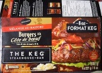 The Keg brand Prime Rib Bee fBurgers