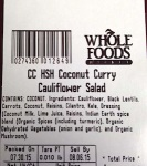 Whole Foods Cauliflower Salad Recall [US]