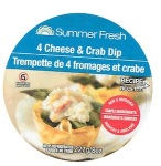 Summer Fresh brand 4 Cheese & Crab Dip Recall [Canada]