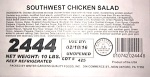 Southwest Chicken Salad Recall [US]