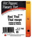 Veg-Pak Red Thai Pepper Recall [Canada]