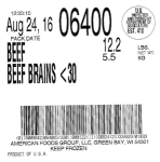 Green Bay Beef Brain Recall [US]