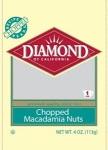 Diamond of California brand Macadamia Nut Recall [US]