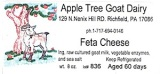 Apple Tree Goat Dairy Cheese Recall [US]