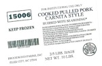 Brookwood Farms Pulled Pork Recall (US}