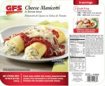 GFS Cheese Manicotti Meal Recall [US]