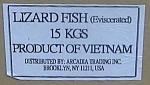 Arcadia Trading Lizard Fish Recall [US]