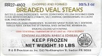 R&R Provision Co. Breaded Veal Recall [US]