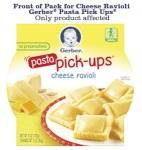 Gerber Cheese Ravioli Pasta Recall [US]