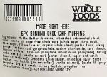 Whole Foods Banana Chocolate Chip Muffin Recall [US]
