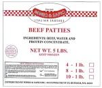 Mineo & Sapio brand Beef Patty Recall [US]