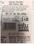 Whole Foods Oatmeal Chocolate Chip Cookies Recall [US]