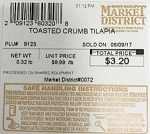 Giant Eagle Market District branded Tilapia Fish Recall [US]