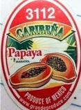 Caribeña brand Maradol Papaya Recall [US]