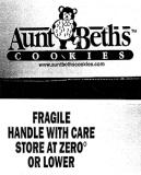 Aunt Beth's Cookies branded Cookie Recall [US]