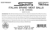 Schiff's Italian branded Beef Meat Ball Recall [US]