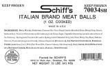 Schiff's Italian branded Beef Meat Ball Recall [US]