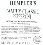 Hempler's Family Classic Pepperoni Recall [US]