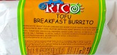 Rico Brand Tofu Breakfast Burrito Recall [US]