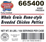 Gold Kist Farms Breaded Chicken Patty Recall [US]