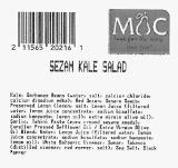 Market of Choice Sezam Kale Salad Recall [US]