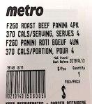 Fresh 2 Go brand Roast Beef Panini Recall [Canada]