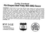 Koch Foods Rib-Shaped Beef Patty Recall [US]