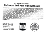 Koch Foods Rib-Shaped Beef Patty Recall [US]