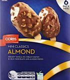 Coles branded Mini Classics Ice Cream Recall [Australia]