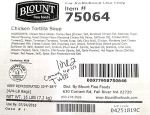 Blount Fine Foods Chicken Tortilla Soup Recall [US]