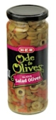 H-E-B Ode to Olives branded Sliced Olive Recall [US]