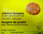 Loblaw No Name brand Chicken Burger Recall [Canada]