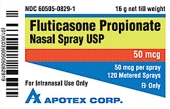 Apotex Fluticasone Propionate Nasal Spray Recall [US]