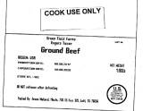 Green Field Farms Rogers Texas Ground Beef Recall [US]