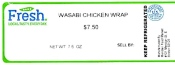 L&D Market branded Wasabi Chicken Wrap Recall [US]